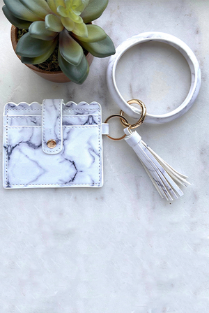 Cardholder with Keyring Bangle & Tassel