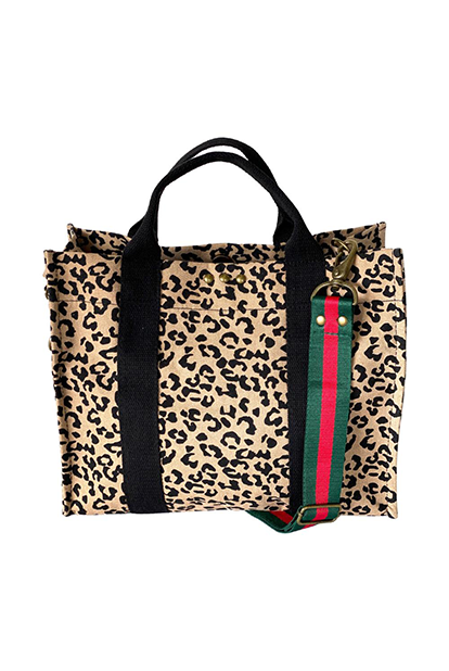 Cheetah Print Canvas Bag