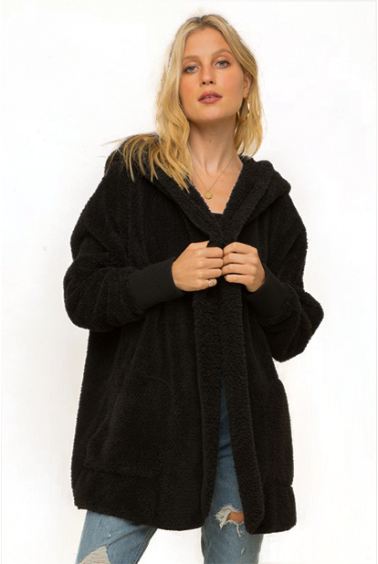 Reign Comfy Hooded Sherpa