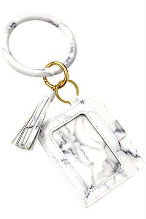 Marble Wallet Key Chain