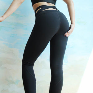 Criss Cross Back High Waist Slimming Pant