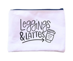 Leggings and Lattes Pouch
