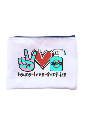 Peace Love Sanitize Zipper Pouch