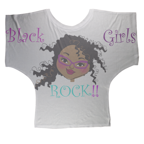 Black Girls Rock Sublimation Batwing Top
