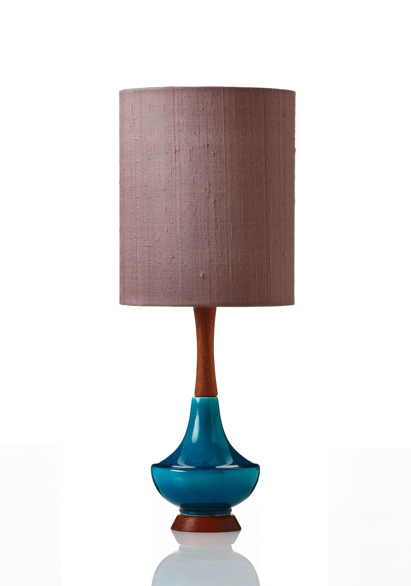 Electra Lamp Small - Raw Silk Pink Onyx