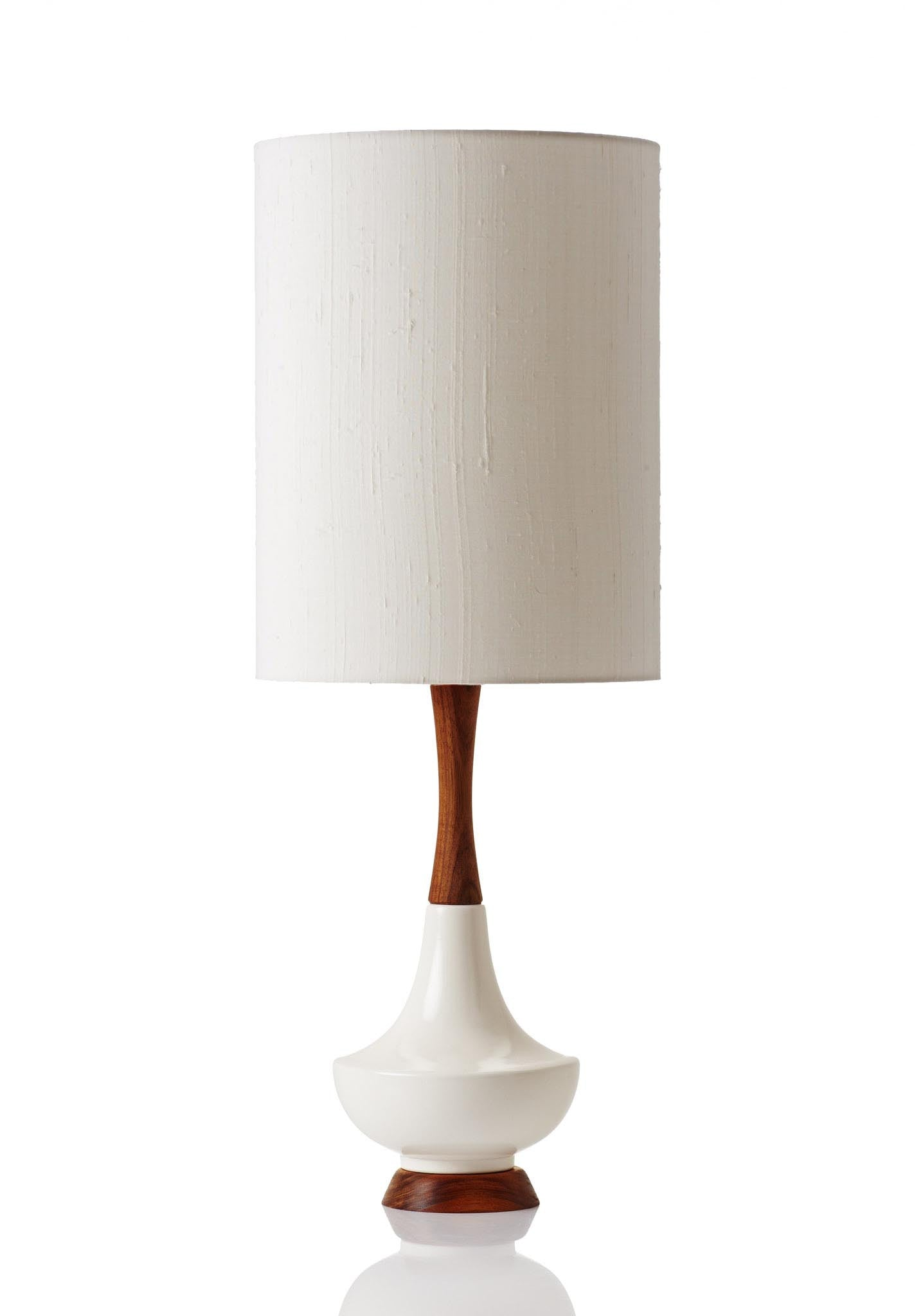Electra Lamp Large - Raw Silk Bone