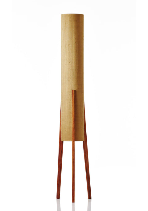 Rocket Floor Lamp Large - Raw Silk Gold