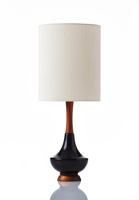 Electra Lamp Small - Raw Silk Bone
