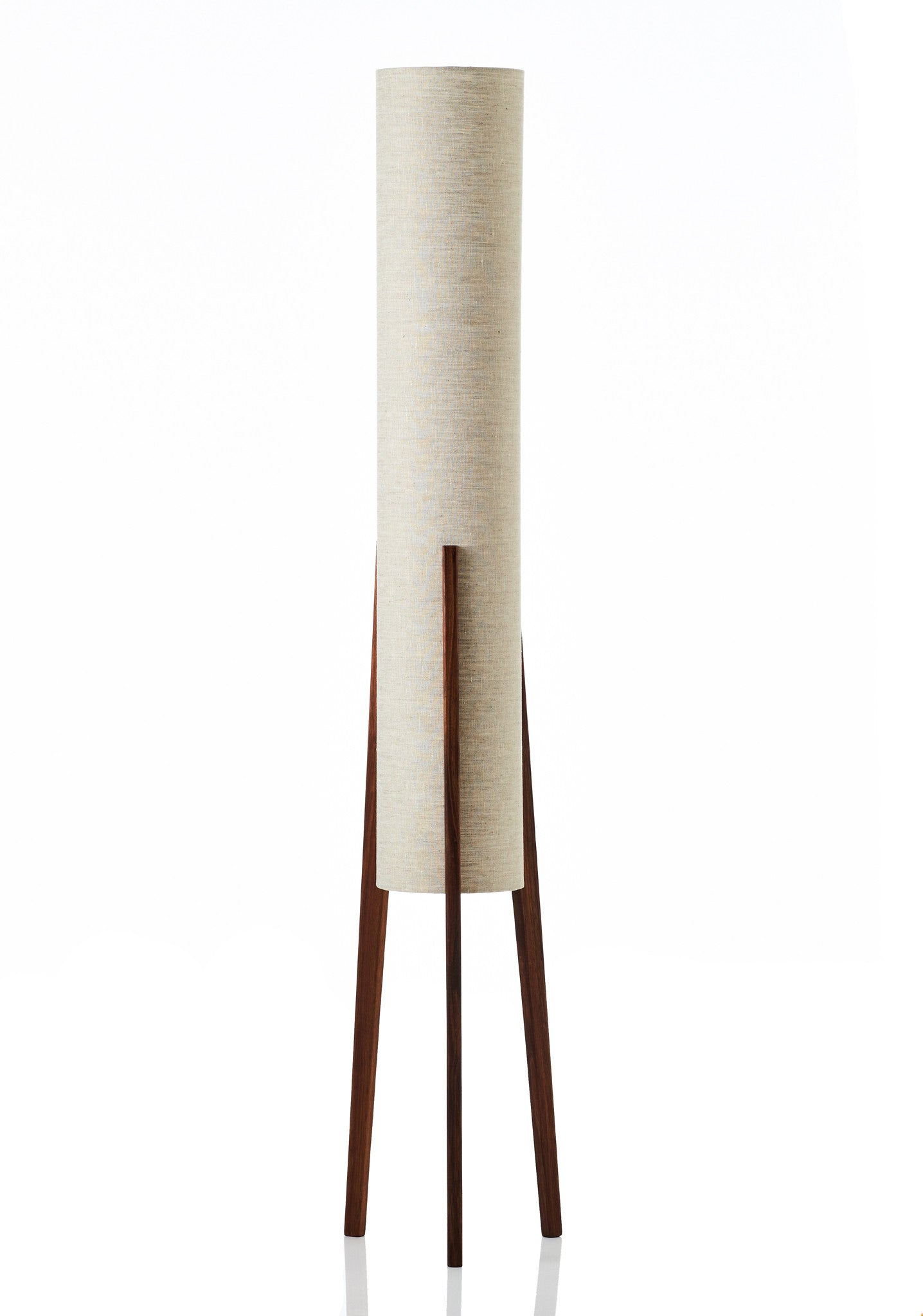 Rocket Floor Lamp Large - Linen Natural
