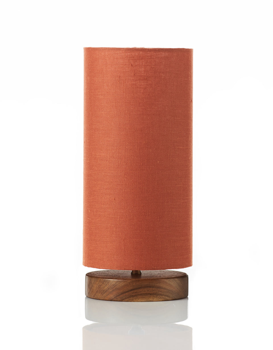 Disc Lamp • Mini - Linen Paprika