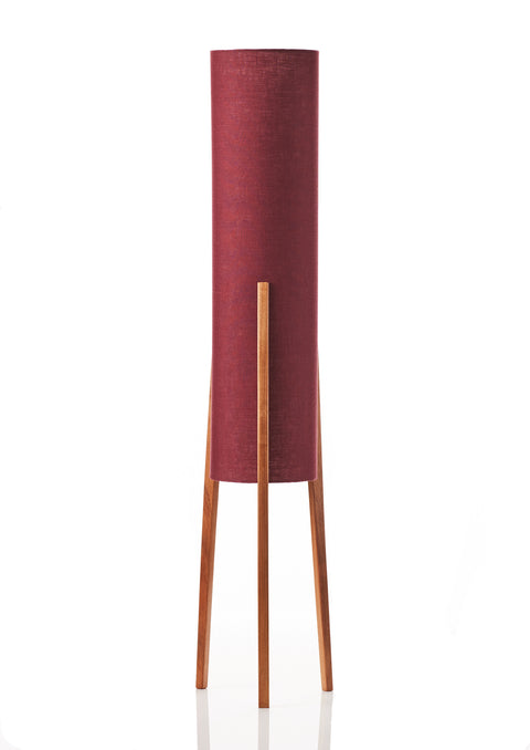Rocket Floor Lamp Medium - Deep Claret Linen
