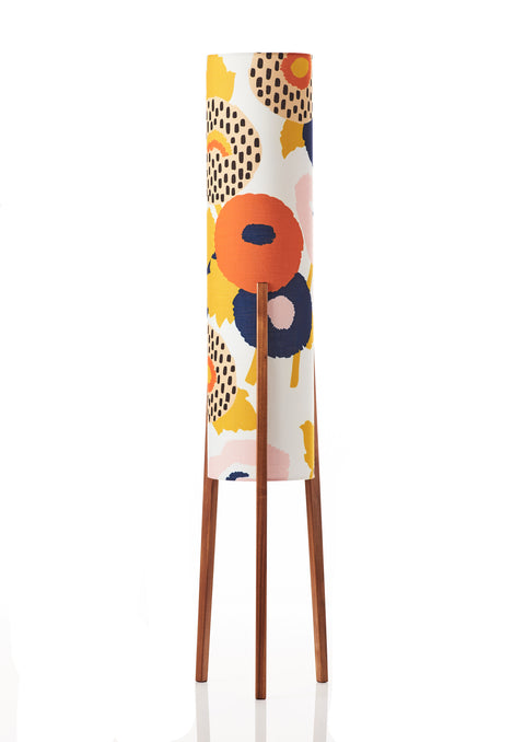 Rocket Floor Lamp Medium - Dahlia Floral