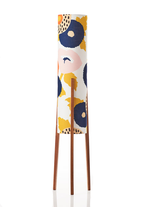 Rocket Floor Lamp • Medium - Dahlia Floral