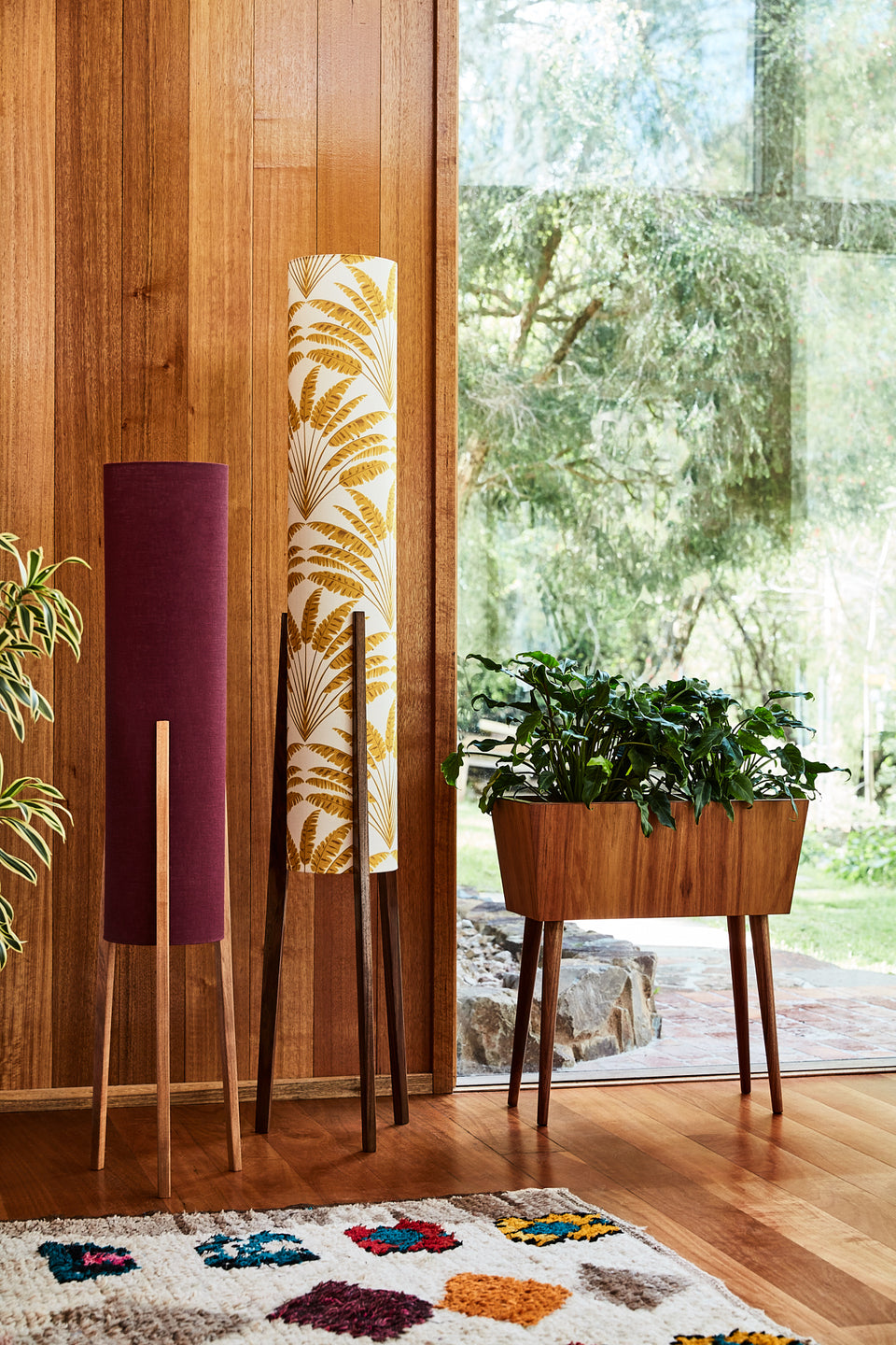 Rocket Floor Lamp • Large -  Freya Mustard