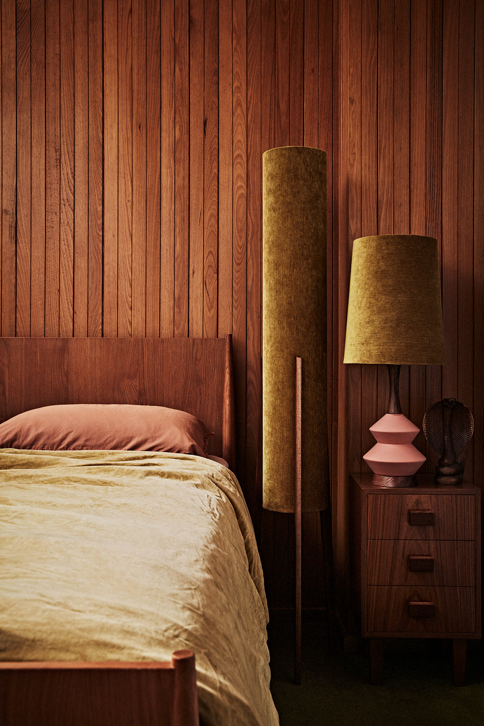 Rocket Floor Lamp • Large -  Gold Velvet