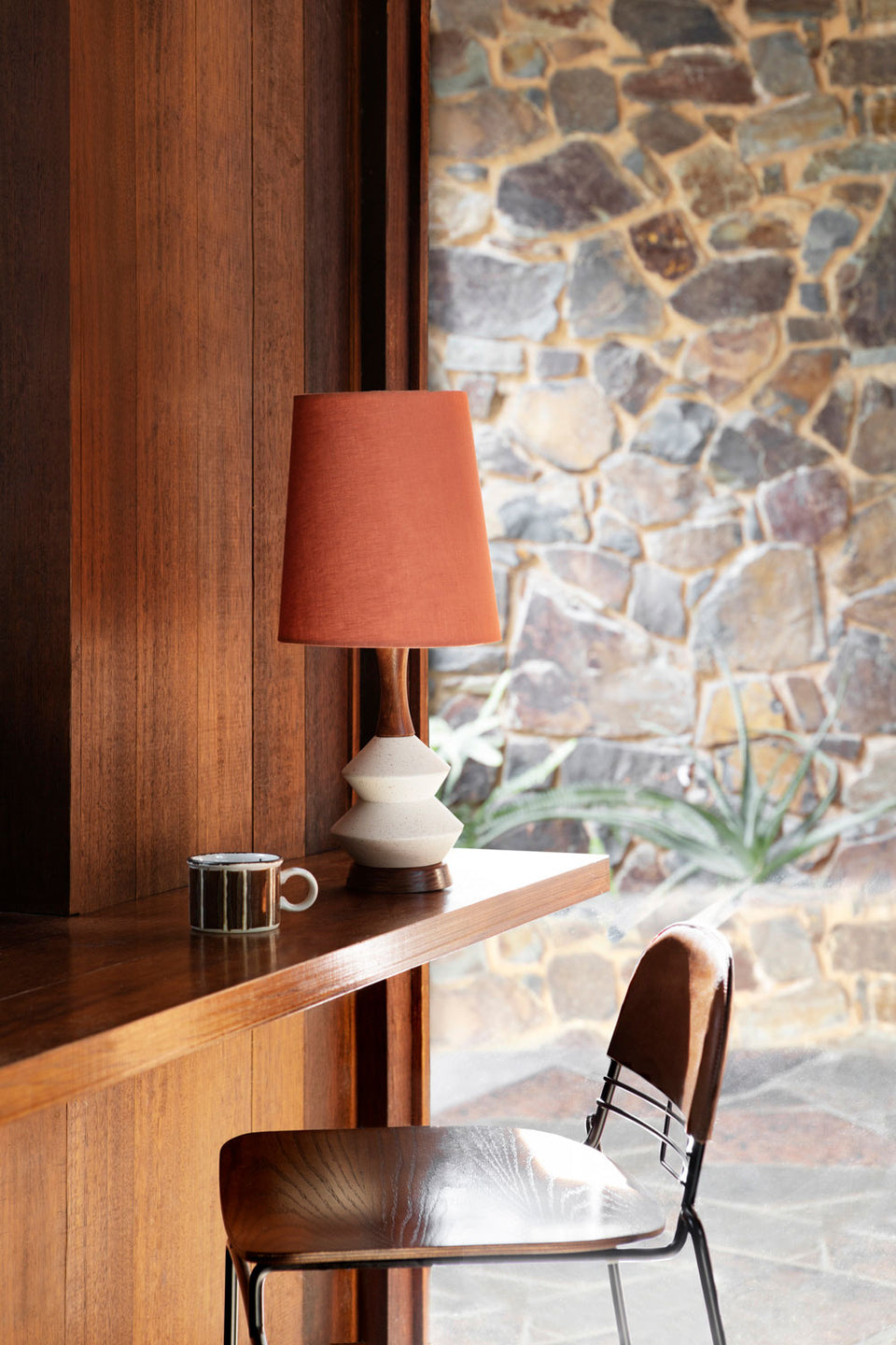Athena Lamp • Small - Red Clay Linen