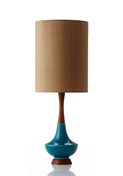 Electra Lamp Large - Raw Silk Gold