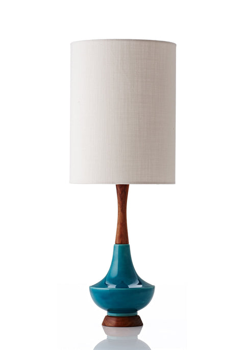 Electra Lamp Large - Linen White