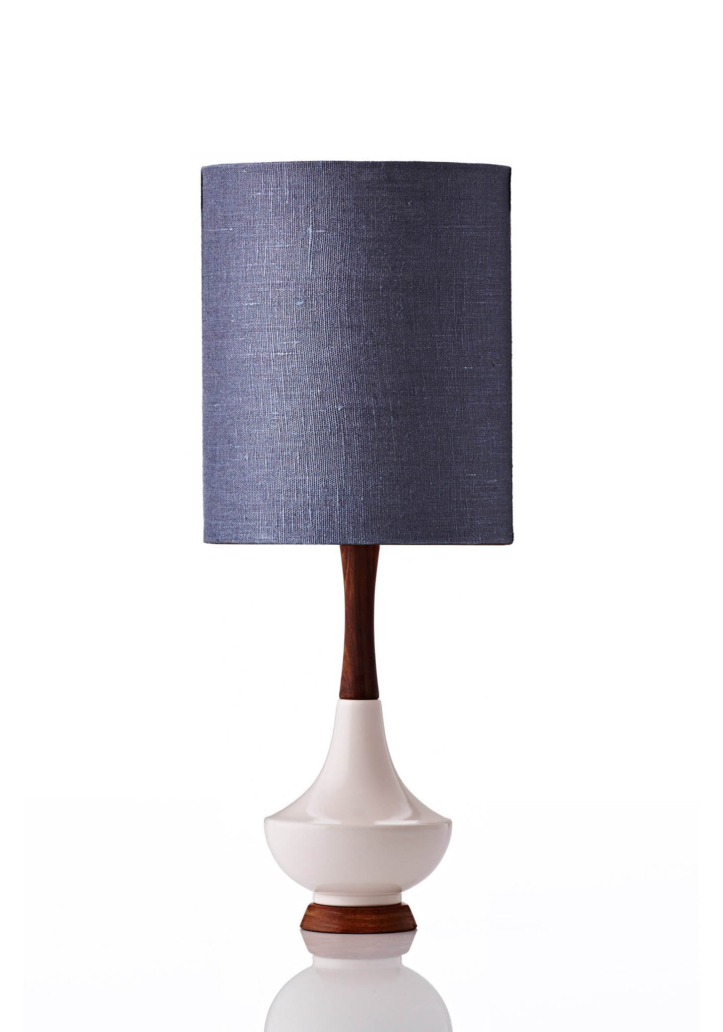 Electra Lamp Small - Linen Midnight Blue