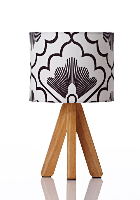 Tipi Table Lamp - Fan Coal