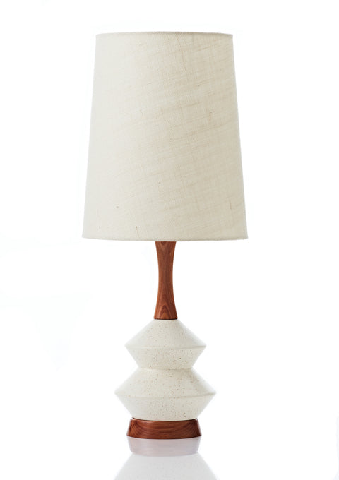 Athena Lamp • Large - Vanilla Hessian
