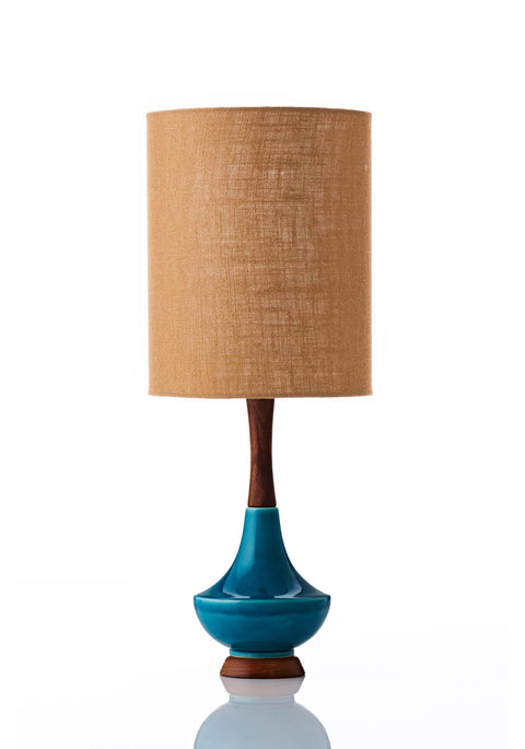 Electra Lamp • Small - Copper Hessian