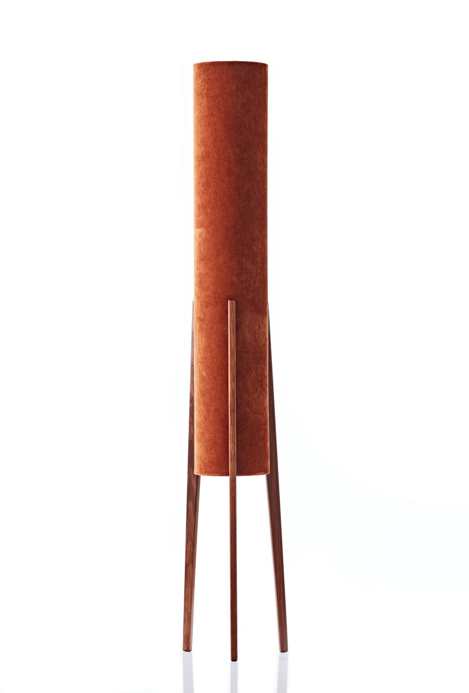 Rocket Floor Lamp • Large - Rust Velvet