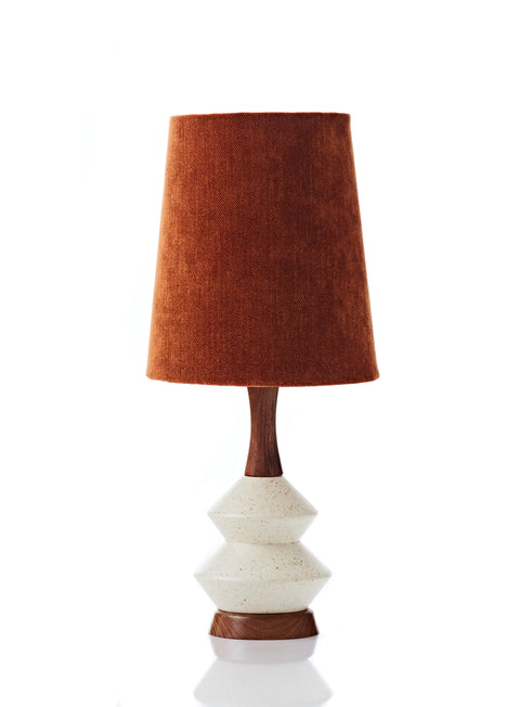 Athena Lamp • Small - Rust Velvet
