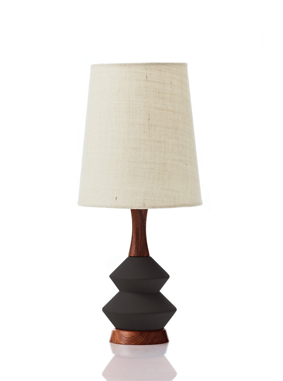 Athena Lamp • Small - Vanilla Hessian