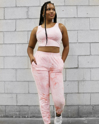 tie dye tye dye set mink sweatpants