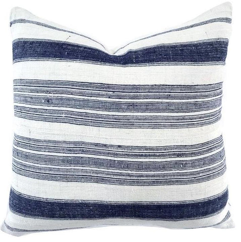 Pillow - Vintage Hmong Navy Stripes