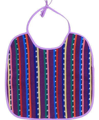 Mayan Baby Bib - purple