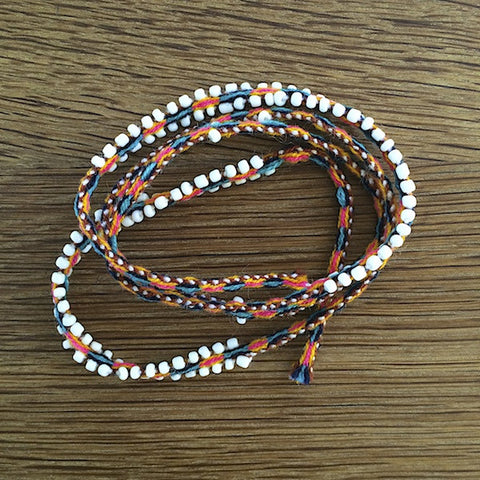 Peruvian Wrap Bracelet - Orange
