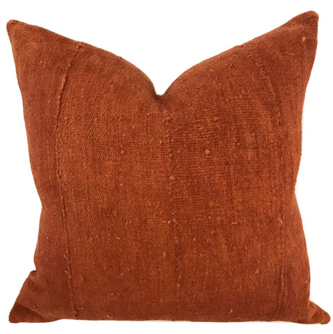 Pillow - African Mudcloth Rust