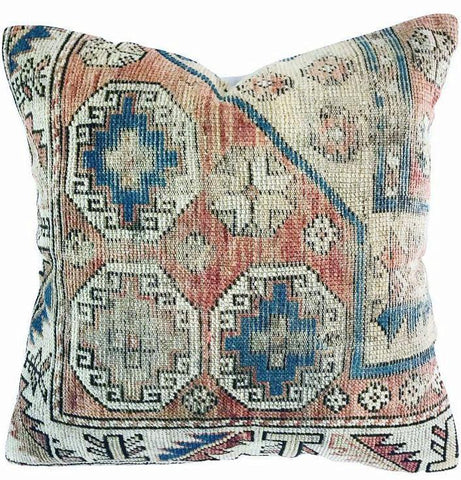 Pillow - Vintage Kilim Oushak Pillow 24x24