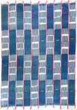 Throw - Pink Ivory Coast Indigo Textile