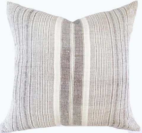Pillow - Vintage Hmong Grey Stripes