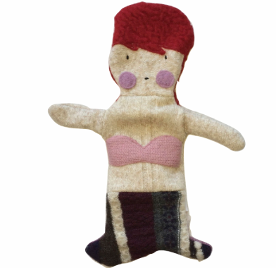 Hand Puppet Mermaid - Red