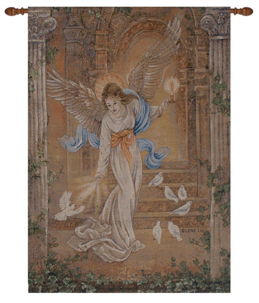Angel of Light 1 Fine Art Tapestry