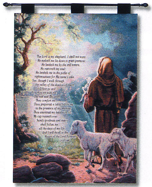 The Lord is My Shepherd Fine Art Tapestry
