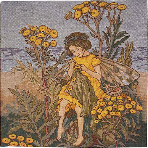 Tansy Fairy Cicely Mary Barker  European Cushion Cover