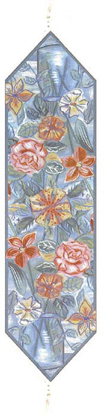 Roses and Lilies  French Tapestry Table Runner