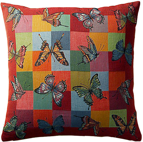 Butterflies 1 French Tapestry Cushion