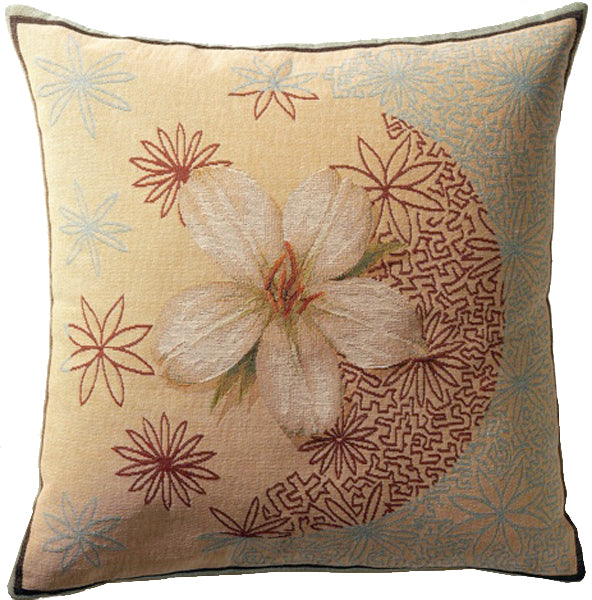 Christmas Rose French Tapestry Cushion