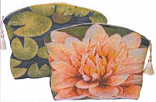 Lotus Flower Purse Tapestry Handbag