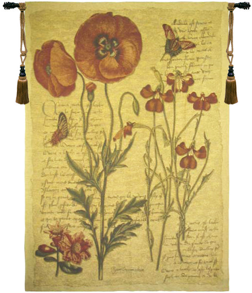 Flanders Poppies III Tapestry Wall Hanging
