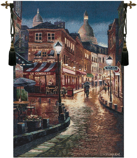 Night Stroll Fine Art Tapestry