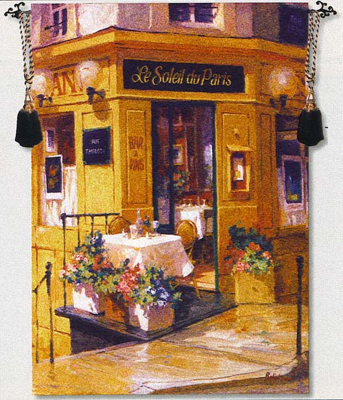 La Petite Terrasse Tapestry Wall Hanging
