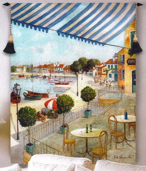 Le Port II Fine Art Tapestry