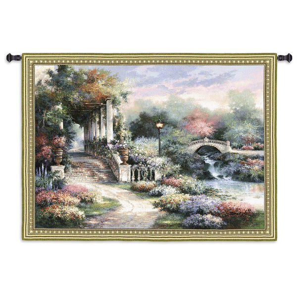 Classic Garden Retreat Tapestry Wall Hanging